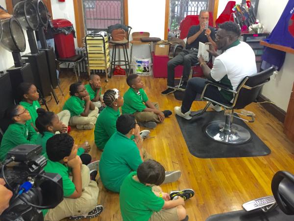 Barbershop Books Unveiling