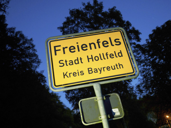 Image: Freienfels town sign
