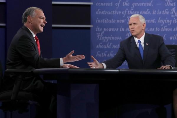 Image: Vice presidential debate between Tim Kaine and Mike Pence