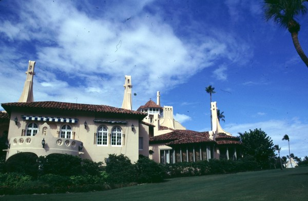 Image: An exterior photo of Mar-A-Lago in Palm Beach, Florida