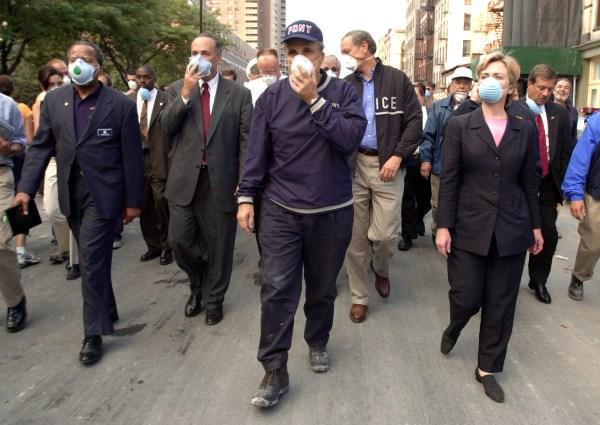 New York City Mayor Rudolph Giuliani