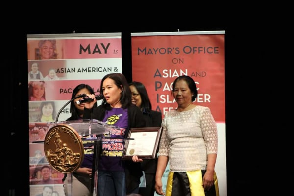 Janet Basilian was awarded the D.C. Mayor's Community Service Award at an AAPI Heritage Month celebration, May 2, 2016.