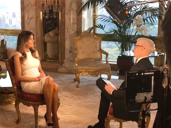 Image: Melania Trump on CNN