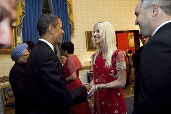 Image: Michaele Salahi and President Obama