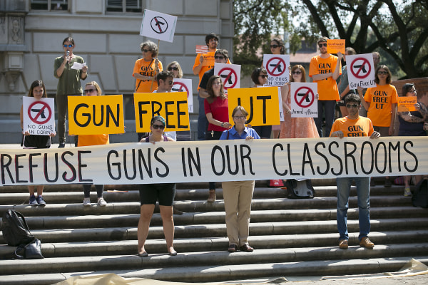 Image: Protesters gather at University of Texas campus to oppose a state law