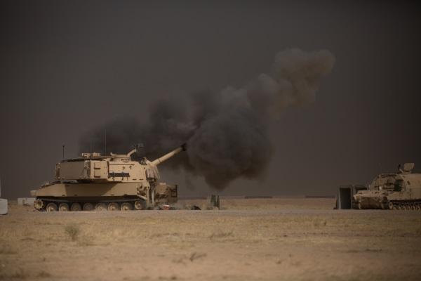 IMAGE: Tank at Q-West base near Mosul, Iraq