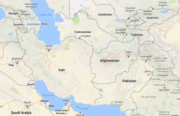 Image: Map showing Afghanistan's Ghor province