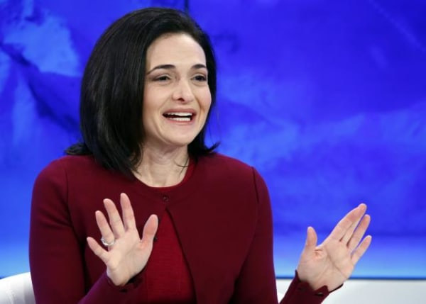 Sandberg COO of Facebook attends a session during the annual meeting 2016 of the WEF in Davos