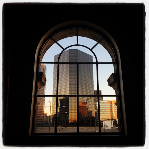Image: A view from the Westin Hotel the day before the second presidential debate