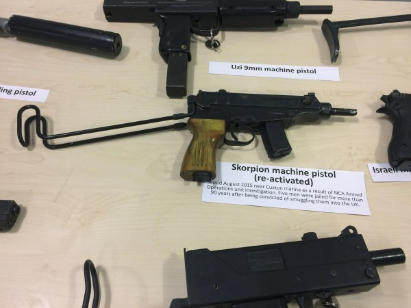 Image: Illegal guns seized by police in Britain