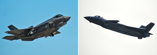 Image: F-35 and J-20 fighter jets