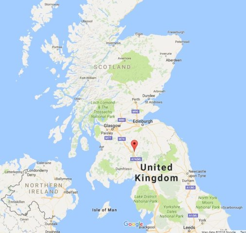 Image: Map showing Devil's Beef Tub, Scotland