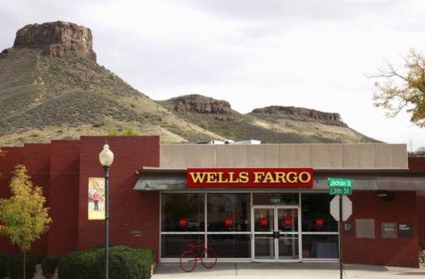 File photo of a Wells Fargo bank branch in Golden, Colorado