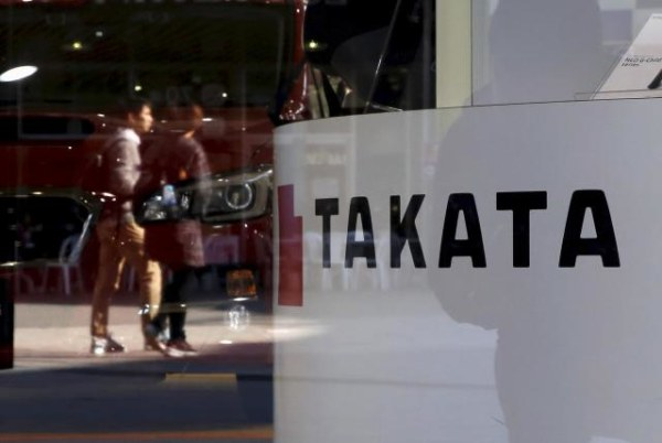 File photo of the logo of Takata Corp in Tokyo