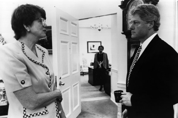 Image: U.S. President Bill Clinton and Janet Reno