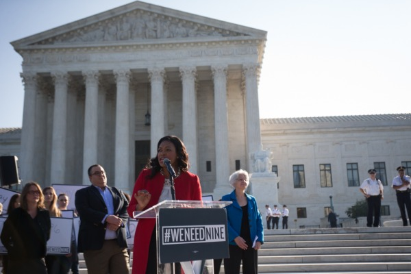 Rally At U.S. Supreme Court Protests Federal Court Vacancies