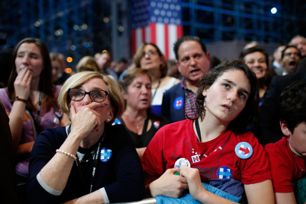 Image: Democratic Presidential Nominee Hillary Clinton Holds Election Night Event In New York City