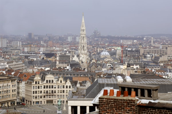The skyline of Brussels