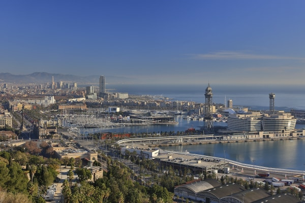 Barcelona city and port