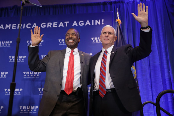 Donald Trump And Mike Pence Campaign Together In Pennsylvania