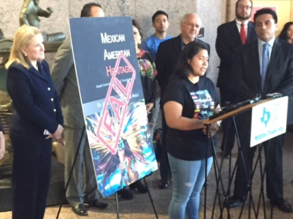 High school senior Carolina Hernandez from Houston spoke for those who don't have a voice. Thanks to everyone who inspired TX to #RejectTheText.