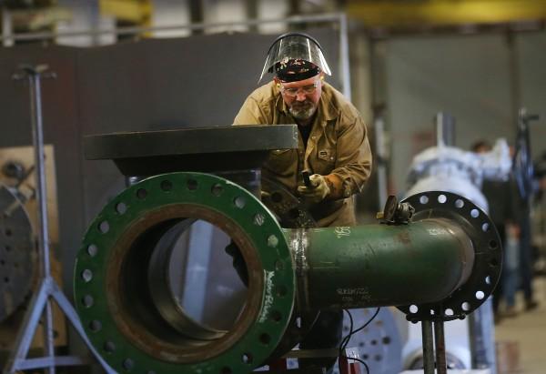 Image: Pipe Manufacturing Factory In Marietta, Ohio