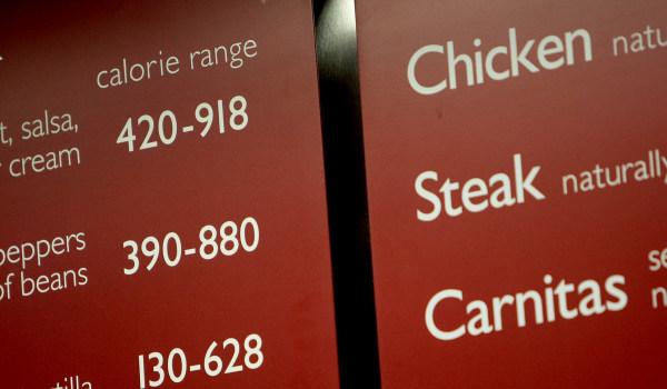 Image: Chipotle Calorie Menu