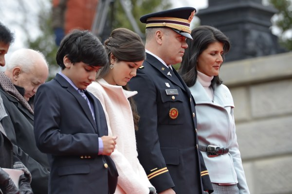 Image:  Naline Haley, Rena Haley, Michael Haley, Nikki Haley