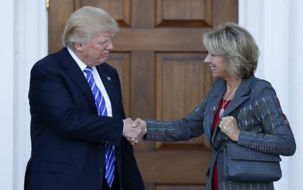Image: Donald Trump, Betsy DeVos