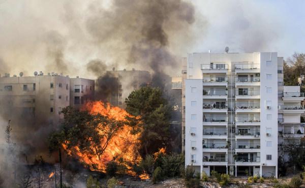 Image: Wildfire in Haifa, Israel