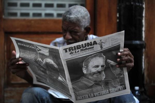 Image: TOPSHOT-CUBA-CASTRO-DECEASE
