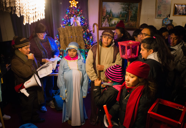 The Catholic Community of Langley Park participates in nightly processions called Las Posadas.