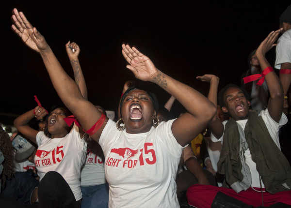 Image: Durham, NC rally advocates for increase in minimum wage