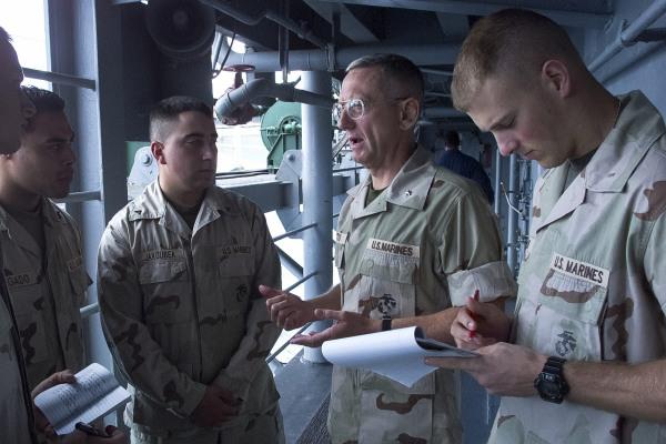 Image: James M Mattis on the USS Peleliu before Afghanistan mission