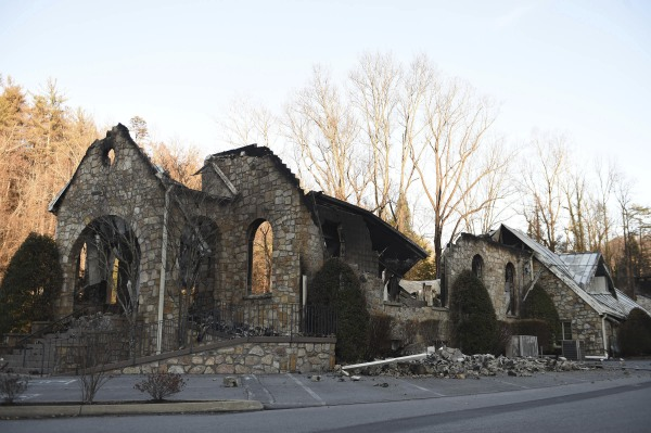 IMAGE: Gatlinburg church destroyed