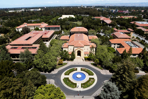 Image: Stanford University's campus is seen from atop Hoover Tower
