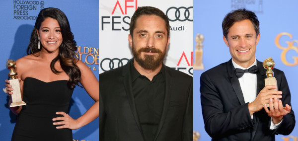 74th Annual Golden Globe nominees Gina Rodriguez, Pablo Larrain and Gael Garcia Bernal.