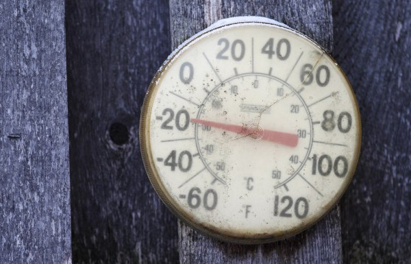 Image: A backyard thermometer shows the temperature during polar vortex in south Minneapolis