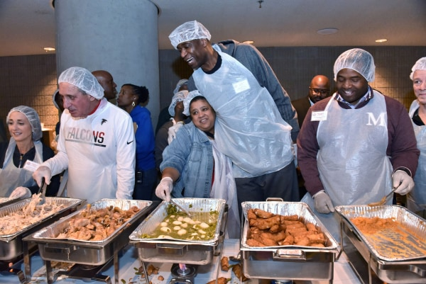 Image: Feed The Hungry And Homeless Thanksgiving Dinner - Atlanta
