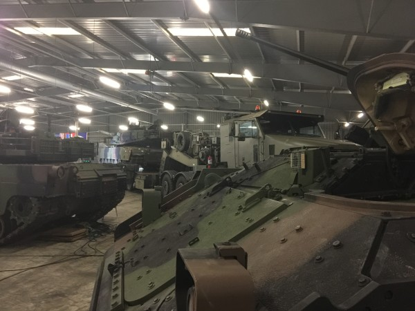 Image: Tracked and wheeled vehicles of Army Prepositioned Stock at Eygelshoven Army Depot