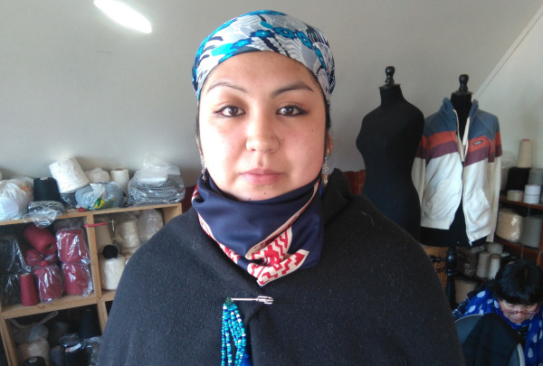 Chilean weaver Juana Zuniga.