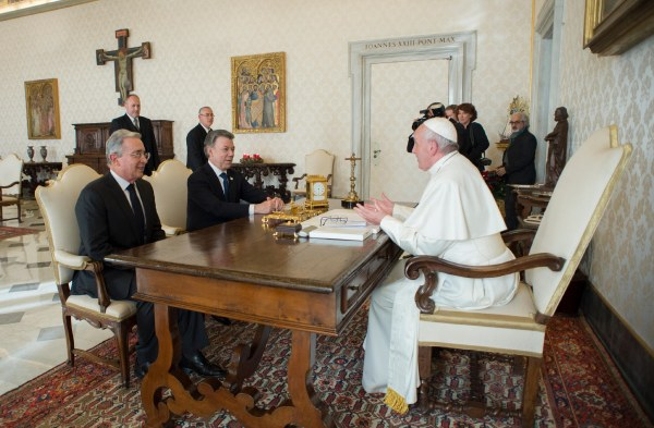 Image: VATICAN-COLOMBIA-POPE
