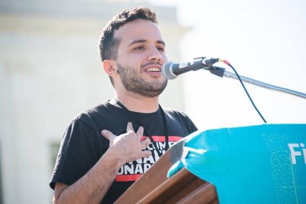 Juan Escalante speaking with 'Define American'
