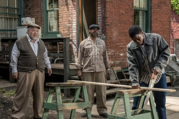 "Image: Denzel Washington, Stephen McKinley, and Jovan Adepo in ""Fences"""