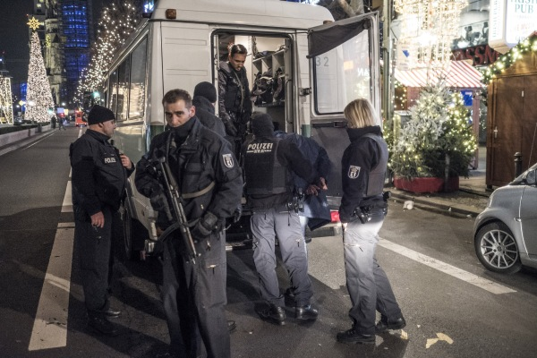 IMAGE: A suspect arrested in Berlin