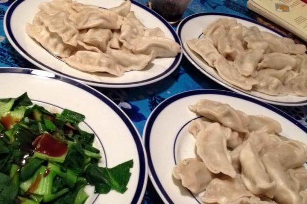 Chinese dumplings made using Frances Kai-Hwa Wang's family recipe ...