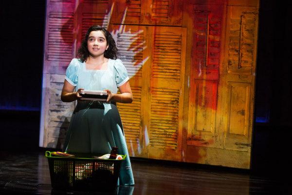 "Alexandria Suarez as Little Gloria in ""ON YOUR FEET!"" on Broadway."