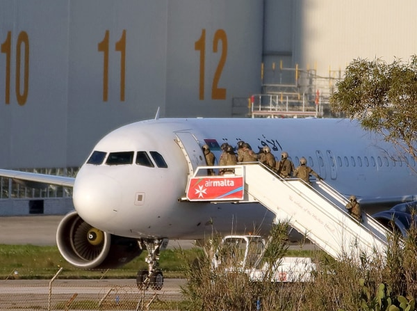 Image: Hijacked Airplane in Malta