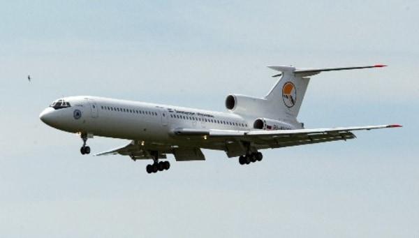 Image: A TU-154 plane of Bashkirian Airlines