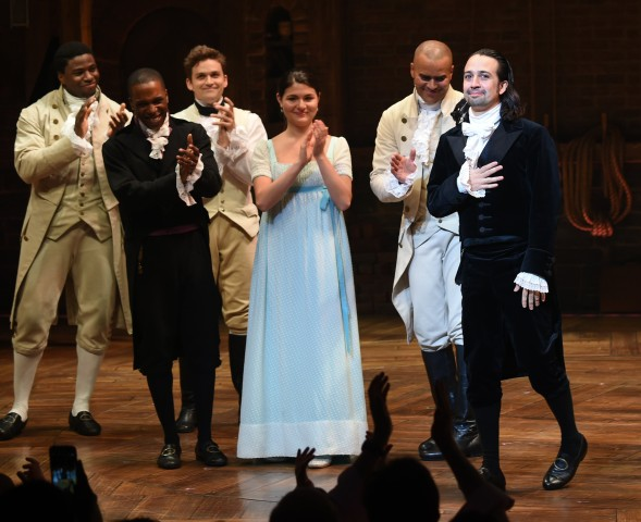 "Image: ""Hamilton"" creator Lin-Manuel Miranda takes his final performance curtain call"